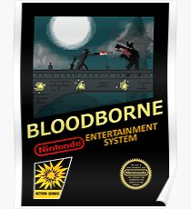 Bloodborne NES nintendo Poster