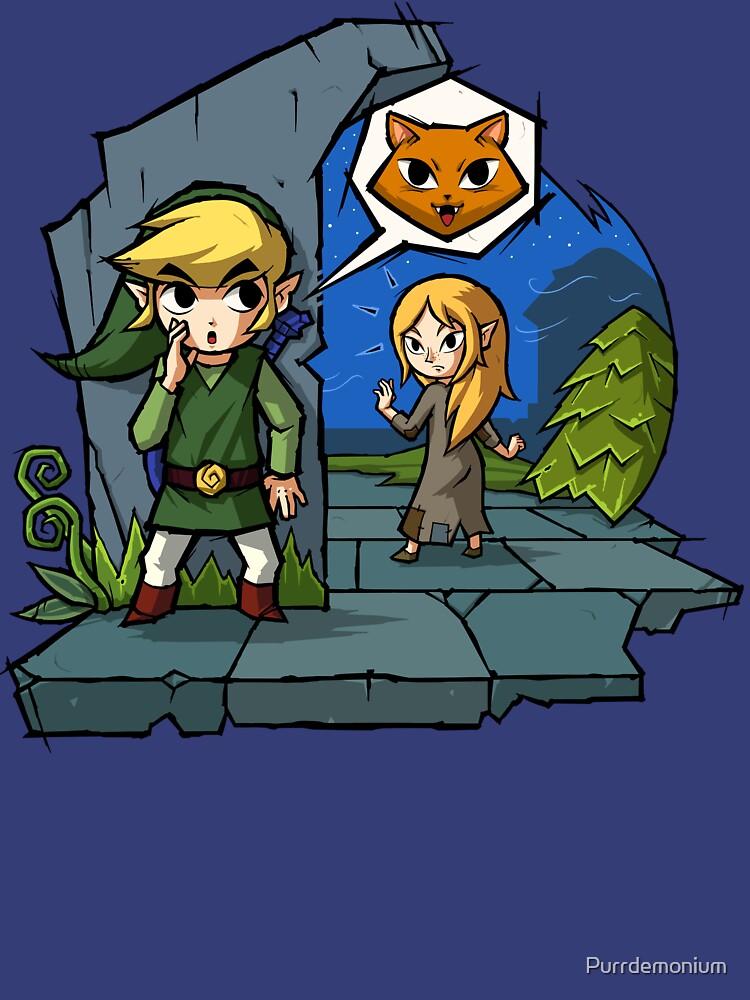 Quot Zelda Wind Waker Meow Quot T Shirt By Purrdemonium Redbubble