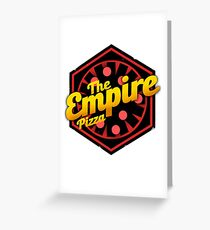 StarWars Empire Pizza! Greeting Card