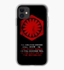 The Power of The First Order iPhone Case