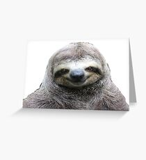 Smiling Sloth Greeting Card