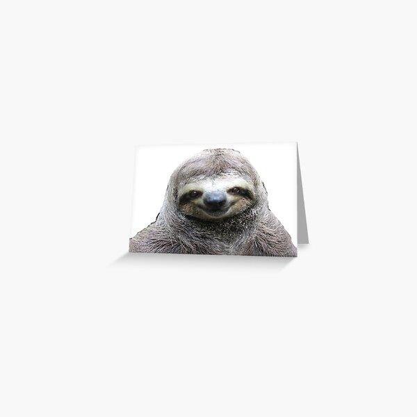 Smiling Sloth Greeting Card