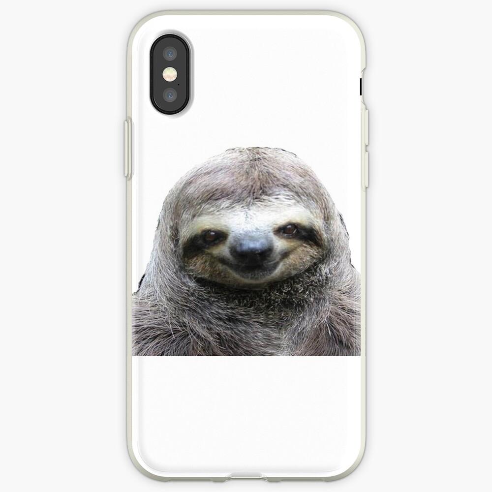 Lächelnde Faultier iPhone-Hülle & Cover