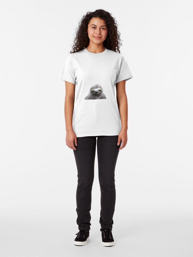 Alternative Ansicht von Lächelnde Faultier Classic T-Shirt