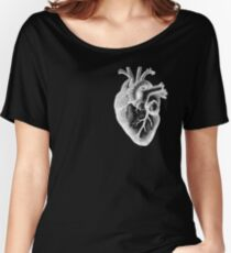 Anatomical Heart - White Outline Women's Relaxed Fit T-Shirt