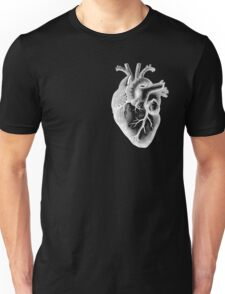 Anatomical Heart - White Outline Unisex T-Shirt