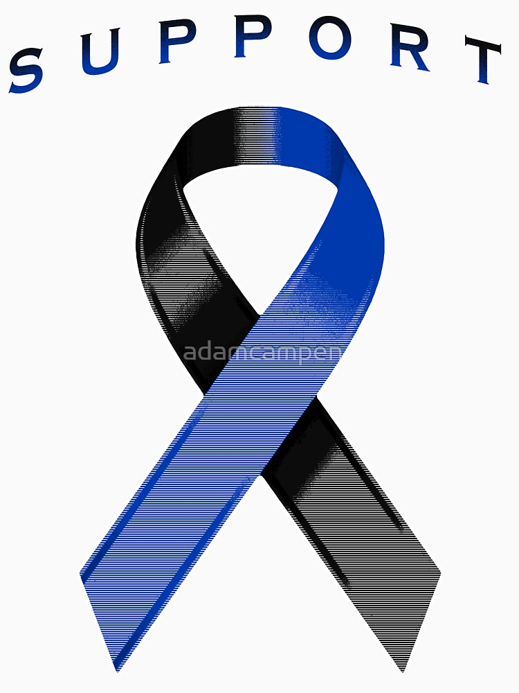 Black & Blue Awareness Ribbon of Support by adamcampen