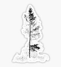 aspen solitude silhouette design Sticker