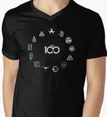 13 Clans - Weiß T-Shirt mit V-Ausschnitt
