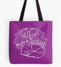 Geen tijd - paars Tote Bag