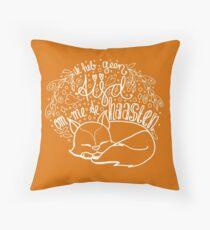 Geen tijd - oranje Throw Pillow