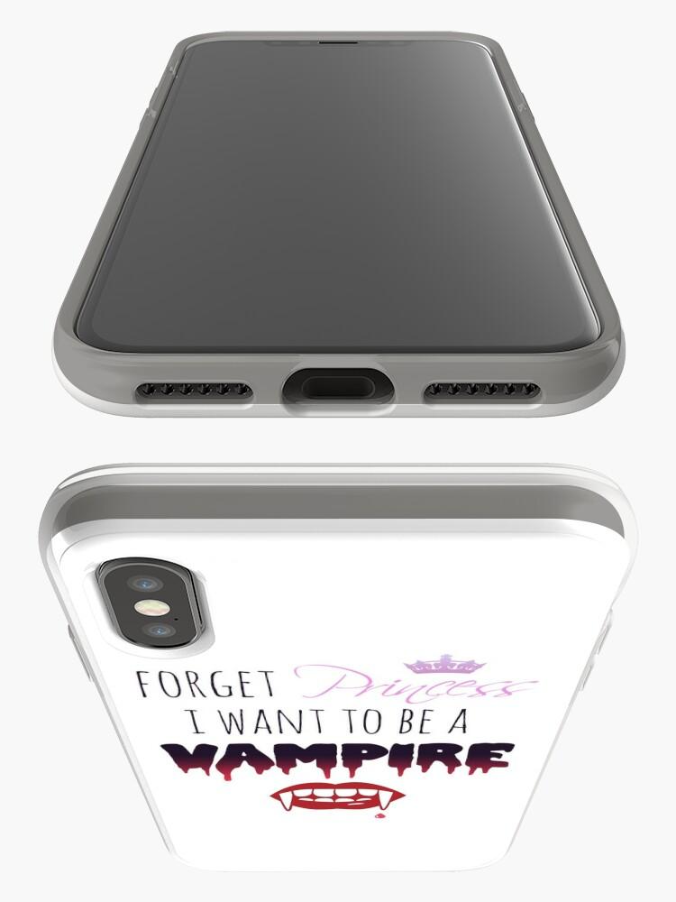 Alternative Ansicht von Vergiss Prinzessin, ich möchte ein Vampir sein! iPhone-Hülle & Cover