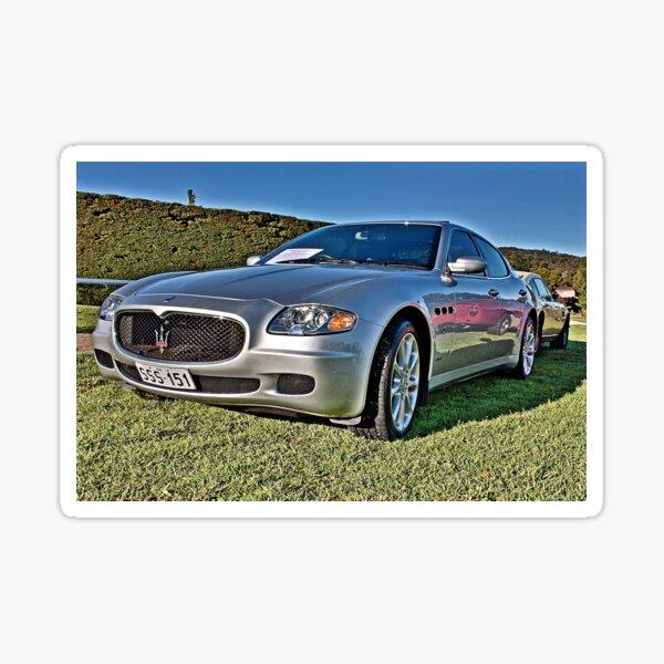 Silver Maserati at Carrack Hill Sticker