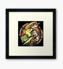 Planet Zebes Roller girls  Framed Print