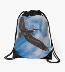 Soaring Above Drawstring Bag