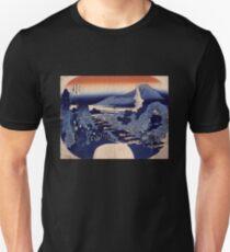 'Mount Haruna' by Katsushika Hokusai (Reproduction) T-Shirt