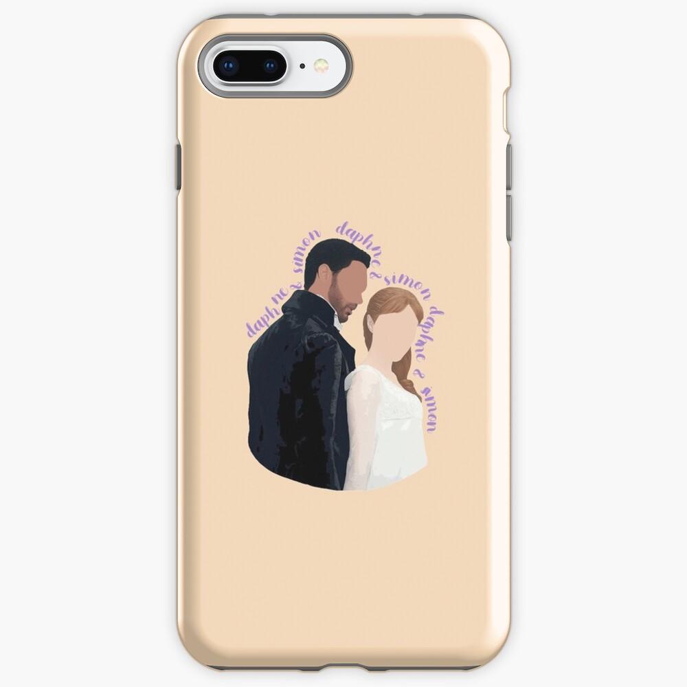 DaphneBridgerton & SimonBasset Beige iPhone Case & Cover