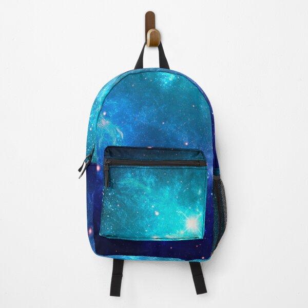 Purple Galaxy Blue Planet Backpack