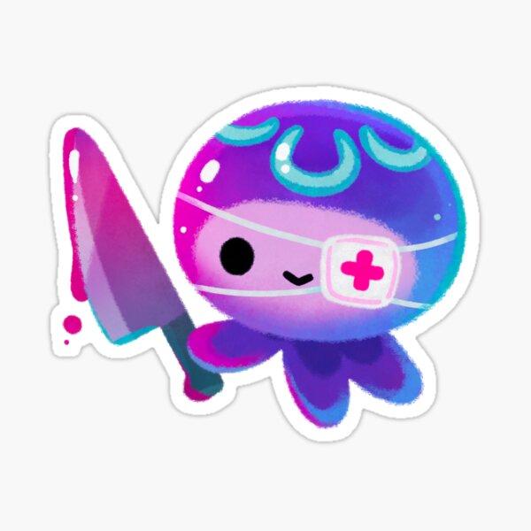 Hermit crab - pink / knife jellyfish Sticker