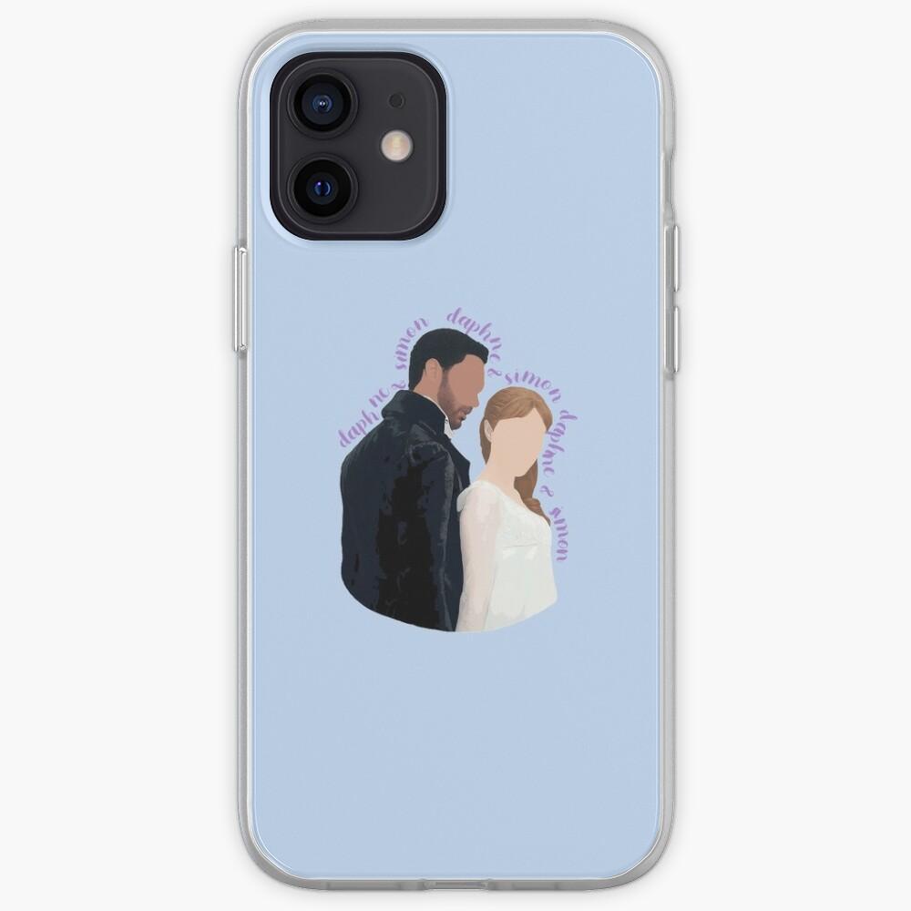 DaphneBridgerton & SimonBasset Light Blue iPhone Case & Cover
