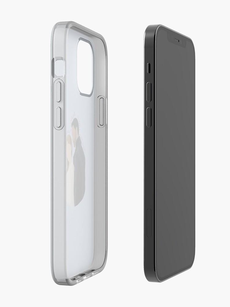 Alternate view of  DaphneBridgerton & SimonBasset Light Blue iPhone Case & Cover