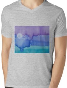 Moon From Day Into Night Mens V-Neck T-Shirt