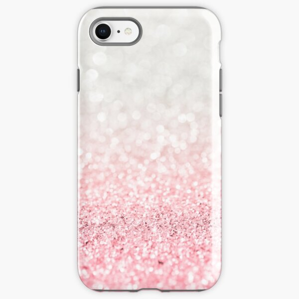 Pink Ombre Glitter iPhone Tough Case