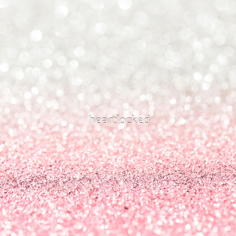 """Pink Ombre Glitter"" Canvas Prints By Heartlocked"