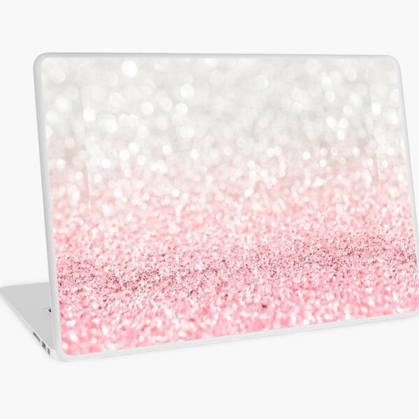 Pink Ombre Glitter Laptop Skin