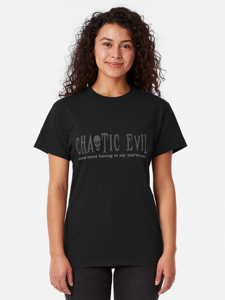 Alternate view of Chaotic Evil Classic T-Shirt