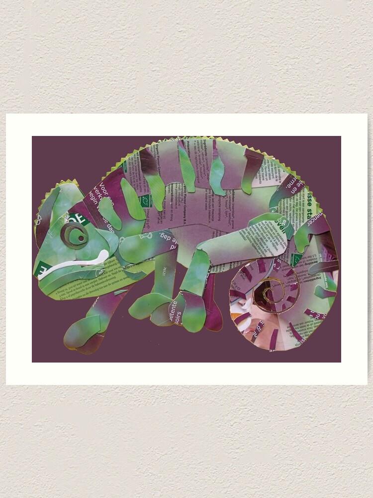 Alternate view of Chameleon Art Print