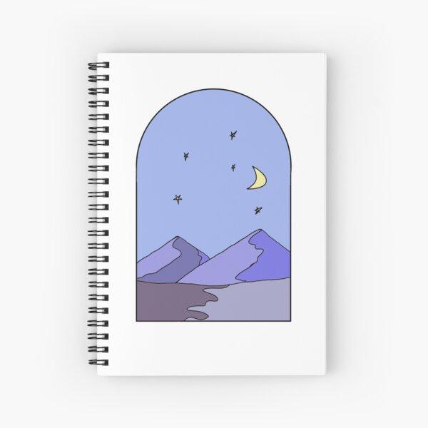 a starry mountain night | pt 1 Spiral Notebook