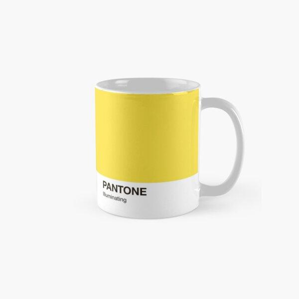 Pantone Color Ultimate Grey e iluminador. Color del año 2021. Taza clásica