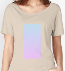 Gradient - Pastel blue/Lilac Women's Relaxed Fit T-Shirt