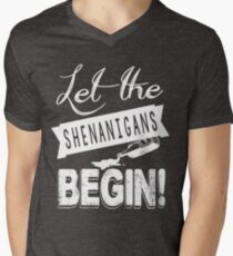Saint Patricks Day Shenanigans Men's V-Neck T-Shirt