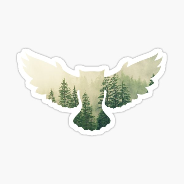 Owl forest design Sticker