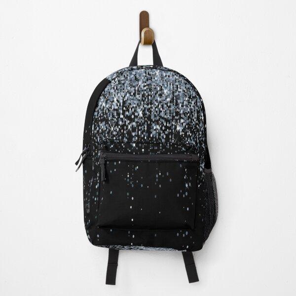 black silver glitter Backpack