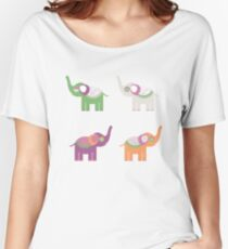 Cheerful elephants Women's Relaxed Fit T-Shirt