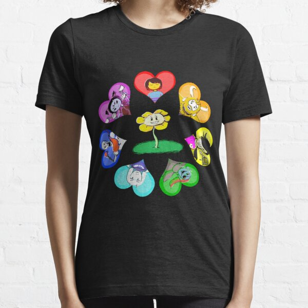 Undertale - Hearts with Characters Essential T-Shirt