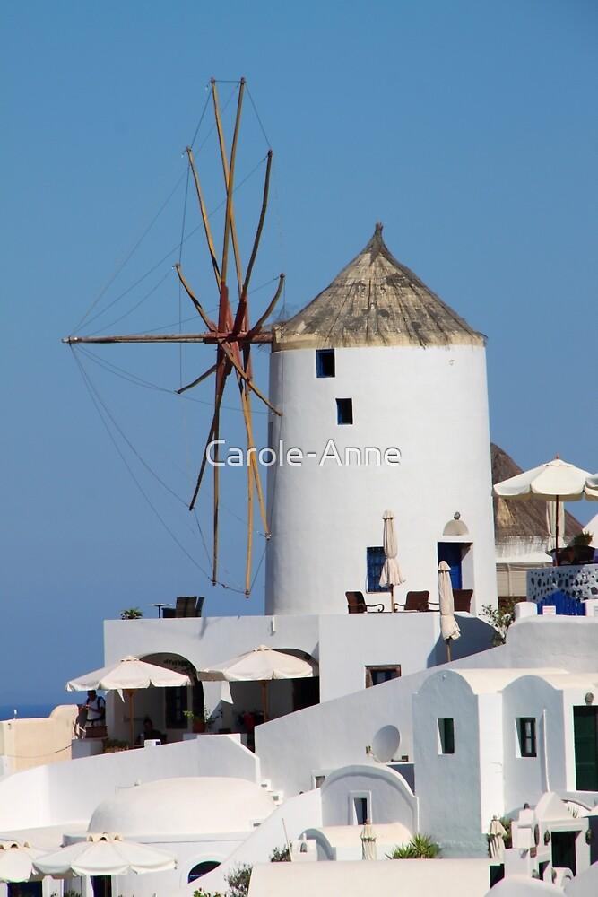 Windmill on Santorini by Carole-Anne