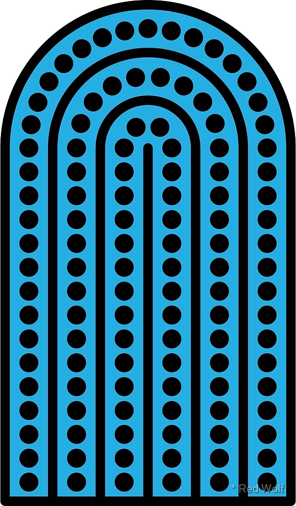 Geometric Pattern: Arch Dot: Black/Blue by * Red Wolf