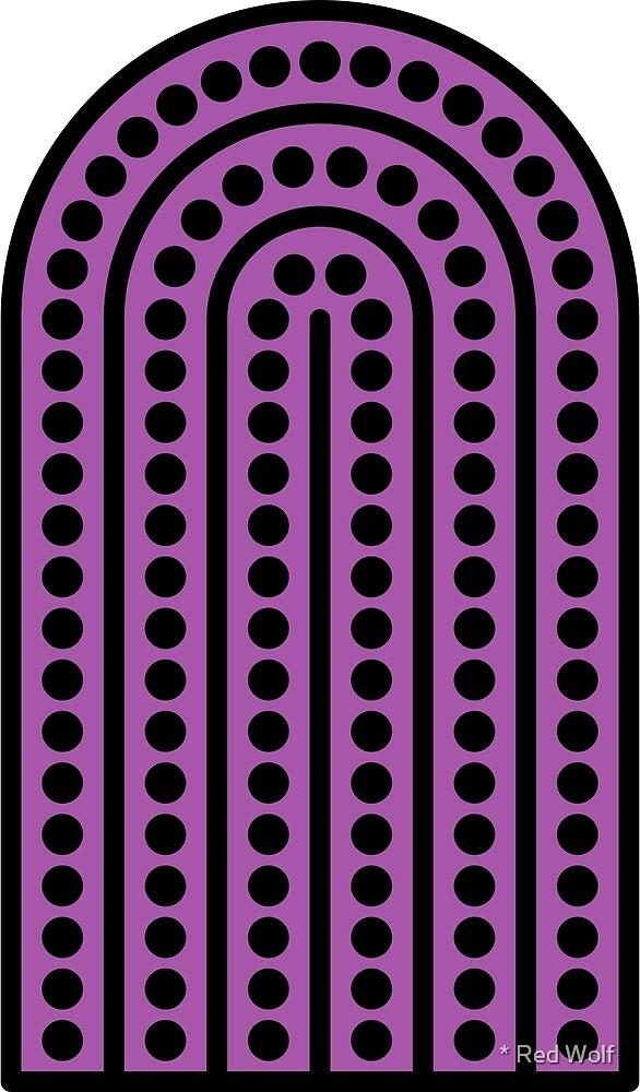 Geometric Pattern: Arch Dot: Black/Purple by * Red Wolf