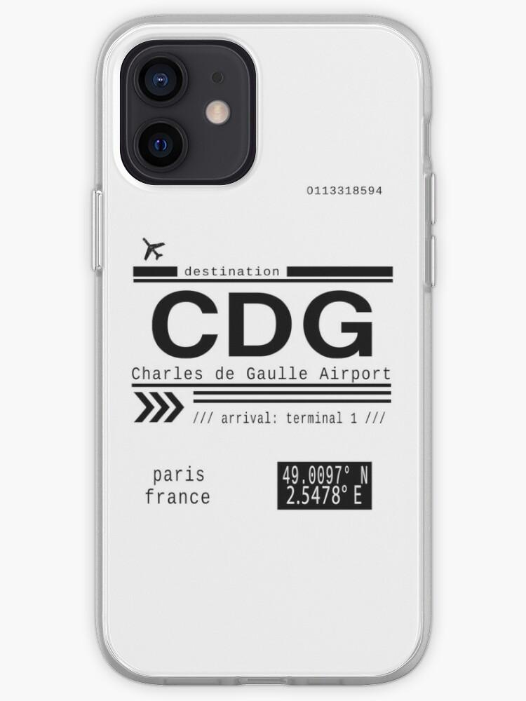 Aéroport CDG Charles de Gaulle Paris France Lettres d'appel   Coque iPhone