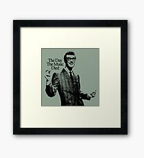 BUDDY HOLLY : THE DAY THE MUSIC DIED Framed Print