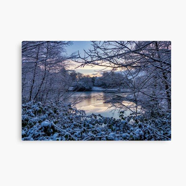 Frozen Lake at Corporation Park Canvas Print
