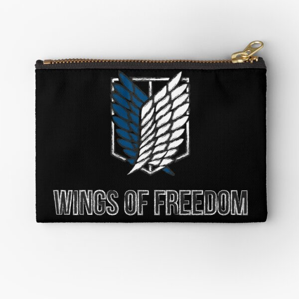 wings of freedom attack on titans Zipper Pouch