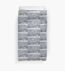 The Garden Door in Winter Duvet Cover