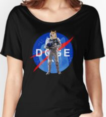 Doge Astronaut In Space Women's Relaxed Fit T-Shirt