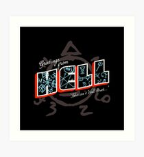 Greetings From Hell Art Print
