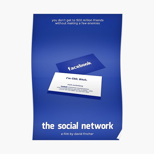 The Social Network film poster Poster